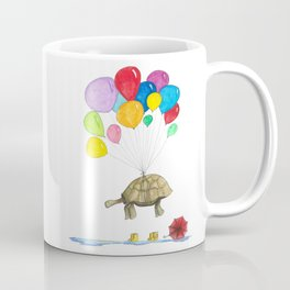 Mr Tortoise with Balloons Coffee Mug