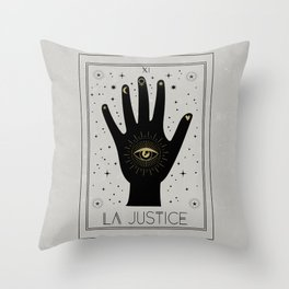 La Justice or The Justice Tarot Throw Pillow