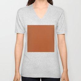 Copper #B2592D Unisex V-Neck