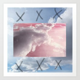 pink and blue sky Art Print