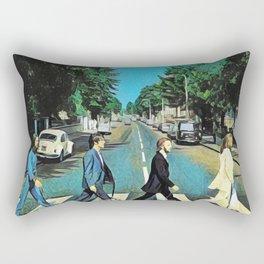 Abbey Pugs Rectangular Pillow