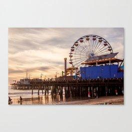 Santa Monica Pier Fun Canvas Print