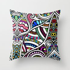 Colourful Curling Throw Pillow