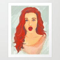 lydia martin Art Prints featuring Holland Roden (Lydia Martin) by maichan