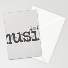 Floral music Stationery Cards