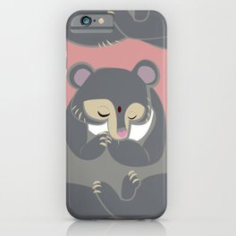 Yoga Bear in pink iPhone Case