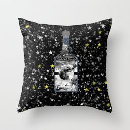 Spaced Rum Throw Pillow