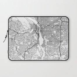 Minimal City Maps - Map Of Portland, Oregon, United States Laptop Sleeve