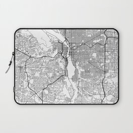 Minimal City Maps - Map Of Portland, Oregon, United States Laptop Sleeve