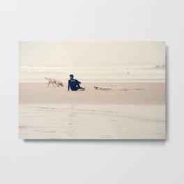 beach yoga Metal Print