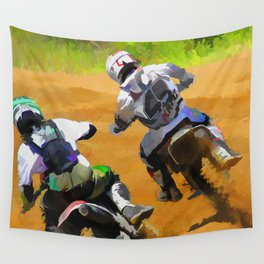 Motocross Dirt Racers Wall Tapestry