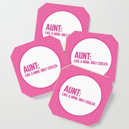 Cool Aunt Funny Quote Coaster