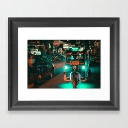 Bangkok Thailand Neon Tuk Tuk 3 Framed Art Print