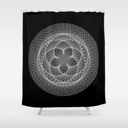 Venus Flower - Black Shower Curtain