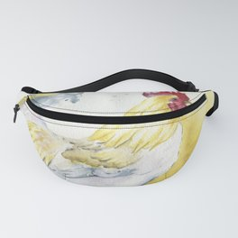 White Rooster Fanny Pack