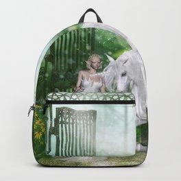 Wonderful fairy with unicorn Backpack