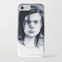coconutwishes iPhone & iPod Cases featuring Harry Watercolors B/N by Coconut Wishes