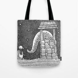 Penguin And Creature Tote Bag