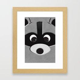 close up racoon Framed Art Print