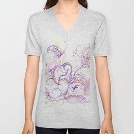 Purple calla lilies Unisex V-Neck