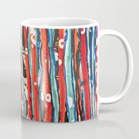 alcohol Mugs featuring Alcohol Ink stripe Alpha by Pajaritaflora