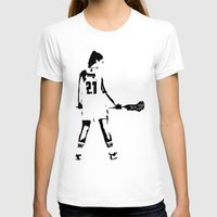 lacrosse T-shirts featuring Lacrosse girl by laxwear