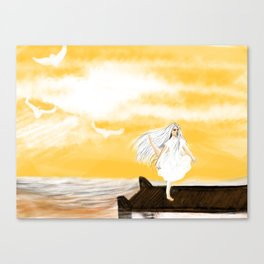 Girl by the Sea Canvas Print
