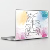 vespa Laptop & iPad Skins featuring Vespa by Cary Fdz