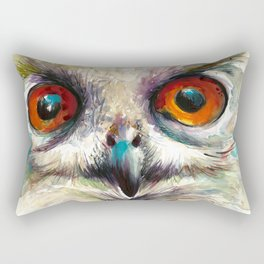 OWL EYE Watercolor Rectangular Pillow