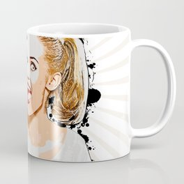 Pop Art, Woman Pointing with Open Mouth Coffee Mug