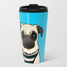 Doug the Pug - Blue BG Travel Mug