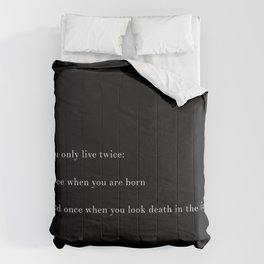 You Only Live Twice Comforters
