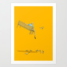 FLOAT - With the pigeons Art Print