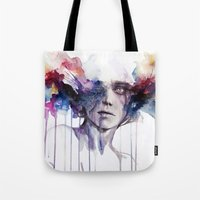agnes Tote Bags featuring l'assenza by agnes-cecile
