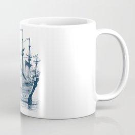 Blue vintage nautical wind sailing boat Coffee Mug
