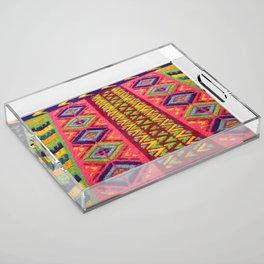 Colorful Guatemalan Alfombra Acrylic Tray