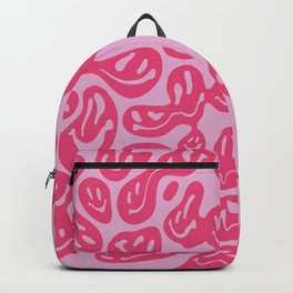 Pink Dripping Smiley Backpack