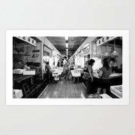 Somethings Fishy [Black & White] Art Print