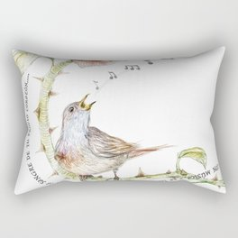 The nightgale and the rose Rectangular Pillow