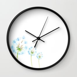 Dandelion Pattern Art Wall Clock