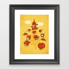 We were tomatoes! Framed Art Print