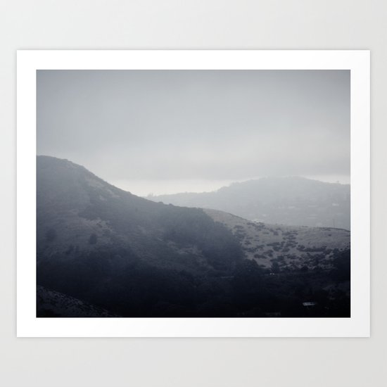 California Fog. Art Print