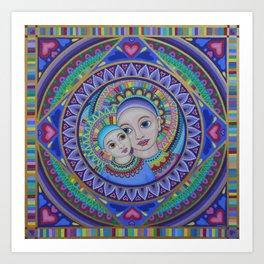 Mother and Child Mandala Art Print