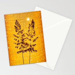 Delicate grasses - light and shadow #1 Stationery Cards
