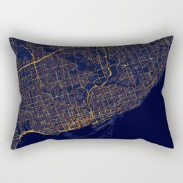 Toronto, Canada - City At Night Rectangular Pillow
