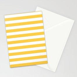 Stripes (Orange & White Pattern) Stationery Cards