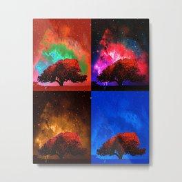 Magic Space Trees I Metal Print