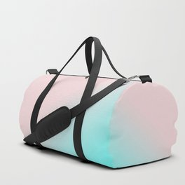 Simply Pink & Teal Color Gradient - Mix And Match With Simplicity of Life Duffle Bag