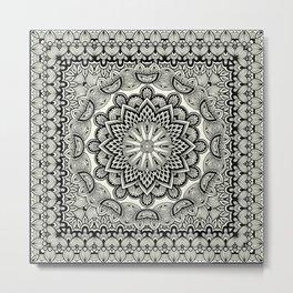 Orient Espresso Pattern Mandala Metal Print