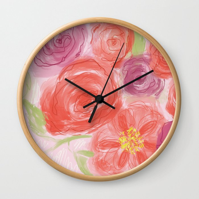 Rosey Wall Clock